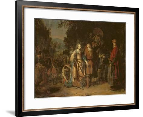 Isaac and Rebecca by the Well of Lahai-Roi-Gerbrandt Van Den Eeckhout-Framed Art Print