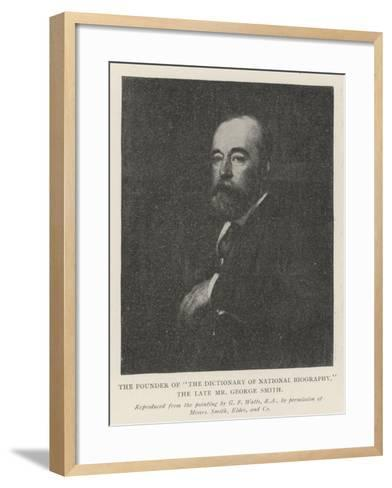 The Founder of The Dictionary of National Biography, the Late Mr George Smith-George Frederick Watts-Framed Art Print