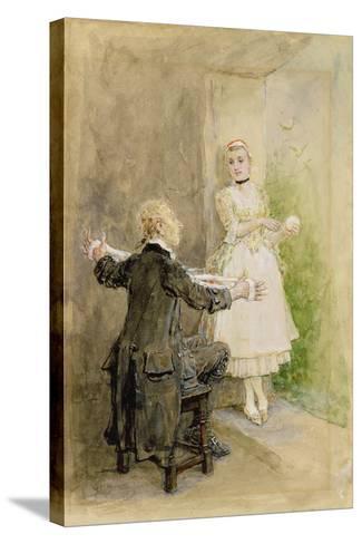Ichabod Crane and Katrin Van Tassel, C.1893-George Henry Boughton-Stretched Canvas Print