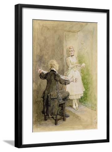 Ichabod Crane and Katrin Van Tassel, C.1893-George Henry Boughton-Framed Art Print