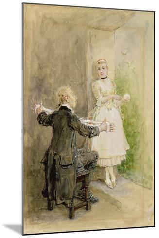 Ichabod Crane and Katrin Van Tassel, C.1893-George Henry Boughton-Mounted Giclee Print