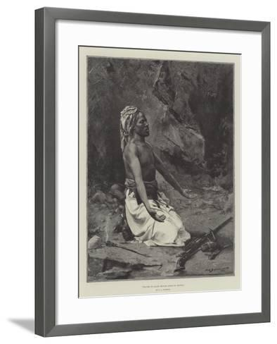 Prayer to Allah before Going to Battle-George L. Seymour-Framed Art Print