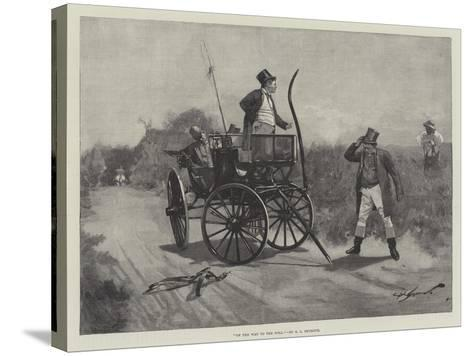 On the Way to the Poll-George L. Seymour-Stretched Canvas Print