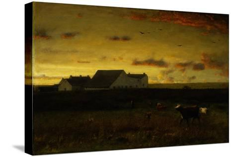 Farm Landscape, Cattle in Pasture, Sunset, Nantucket, C.1883-George Snr^ Inness-Stretched Canvas Print