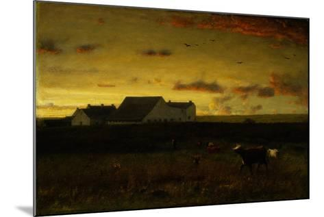 Farm Landscape, Cattle in Pasture, Sunset, Nantucket, C.1883-George Snr^ Inness-Mounted Giclee Print