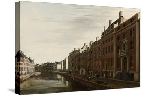The 'Golden Bend' in the Herengracht, Amsterdam as Seen from the West, 1672-Gerrit Adriaensz Berckheyde-Stretched Canvas Print