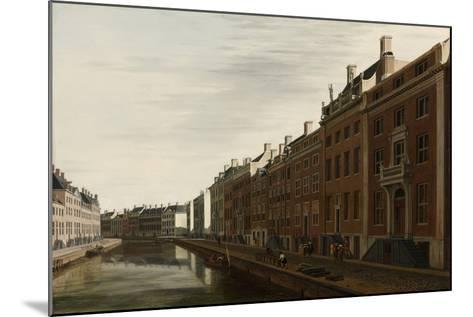 The 'Golden Bend' in the Herengracht, Amsterdam as Seen from the West, 1672-Gerrit Adriaensz Berckheyde-Mounted Giclee Print