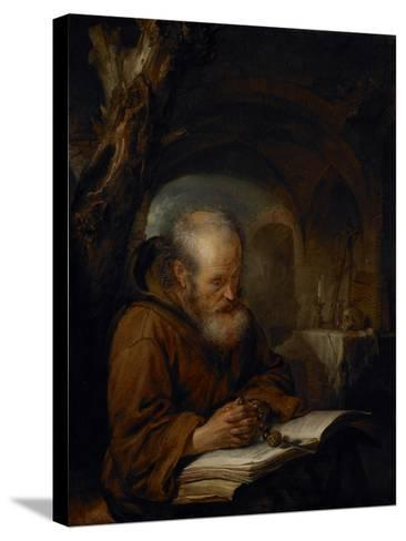 A Hermit Praying, 1670-Gerrit Dou-Stretched Canvas Print