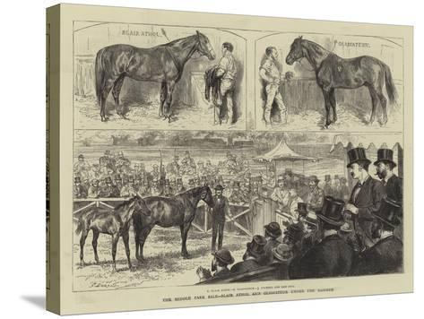 The Middle Park Sale, Blair Athol and Gladiateur under the Hammer-Godefroy Durand-Stretched Canvas Print