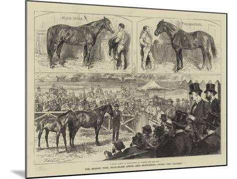 The Middle Park Sale, Blair Athol and Gladiateur under the Hammer-Godefroy Durand-Mounted Giclee Print