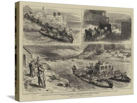 The Civil War in Spain-Godefroy Durand-Stretched Canvas Print