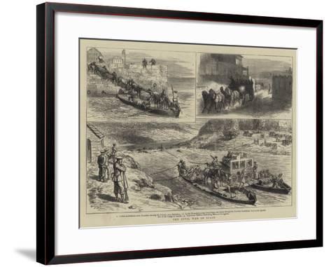 The Civil War in Spain-Godefroy Durand-Framed Art Print