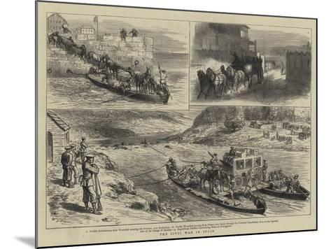 The Civil War in Spain-Godefroy Durand-Mounted Giclee Print