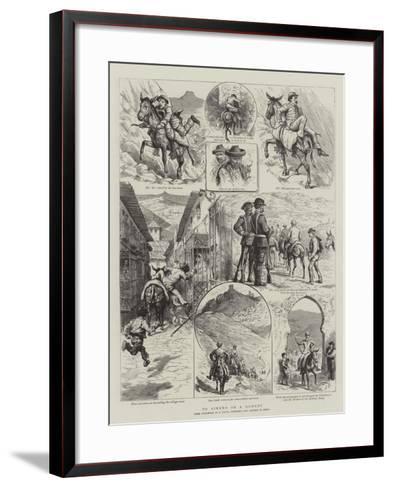 To Ximena on a Donkey-Godefroy Durand-Framed Art Print