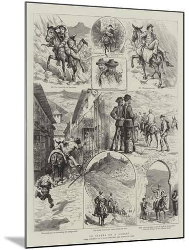 To Ximena on a Donkey-Godefroy Durand-Mounted Giclee Print