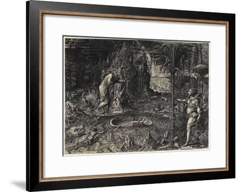 Allegory of Life (The Dream of Raphael), 1561-Giorgio Ghisi-Framed Art Print