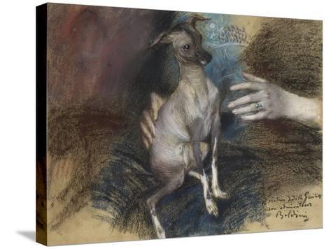 Elegante Au Chien-Giovanni Boldini-Stretched Canvas Print