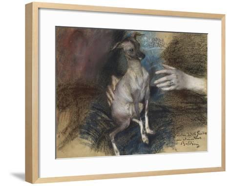 Elegante Au Chien-Giovanni Boldini-Framed Art Print