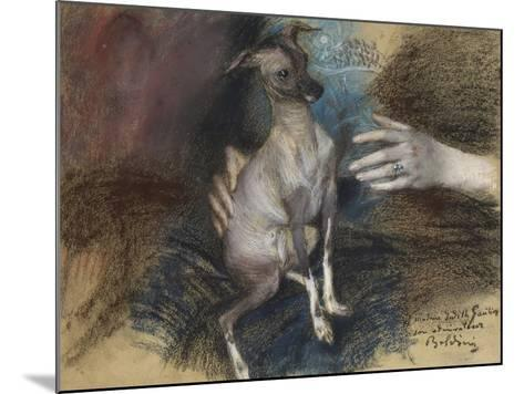 Elegante Au Chien-Giovanni Boldini-Mounted Giclee Print