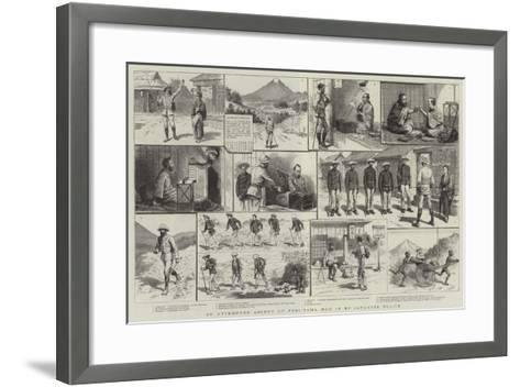 An Attempted Ascent of Fusi-Yama, Run in by Japanese Police-Godefroy Durand-Framed Art Print