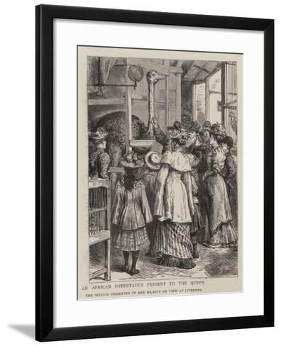 An African Potentate's Present to the Queen-Godefroy Durand-Framed Art Print