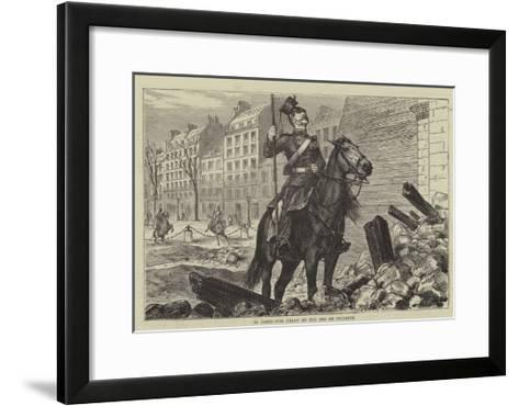 In Paris, the Uhlan at the Arc De Triomphe-Godefroy Durand-Framed Art Print