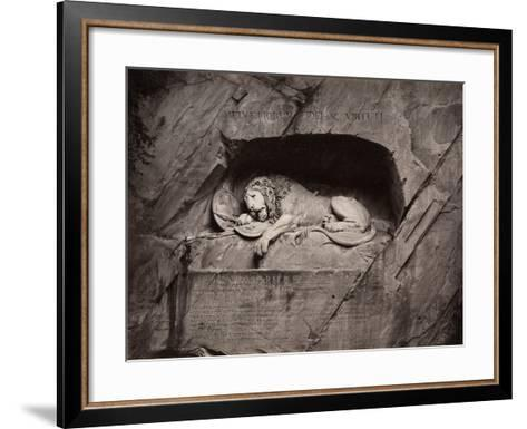 The Lion, Lucerne, Switzerland-Giorgio Sommer-Framed Art Print