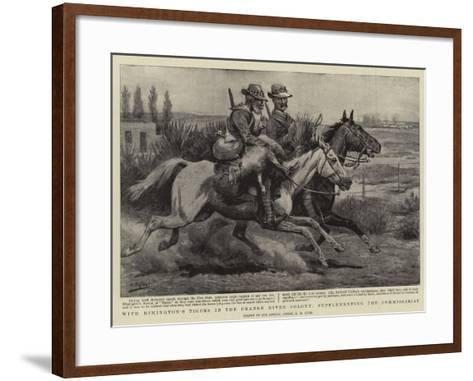 With Rimington's Tigers in the Orange River Colony, Supplementing the Commissariat-Godfrey Douglas Giles-Framed Art Print