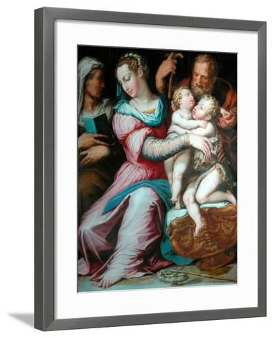 Holy Family with St John-Giorgio Vasari-Framed Art Print