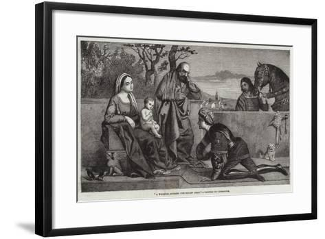 A Warrior Adoring the Infant Jesus-Giorgione-Framed Art Print