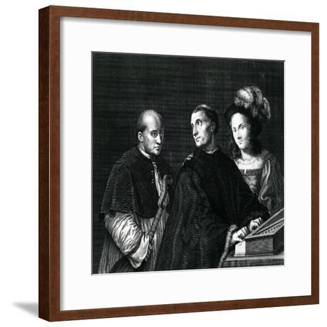 The Concert-Giorgione-Framed Art Print