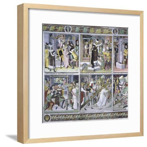 Passion of Christ, 1492-Giovanni Canavesio-Framed Art Print