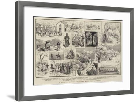 A Five Days' Tour Among the Mountains of Crete-Godefroy Durand-Framed Art Print