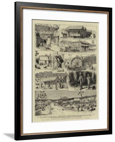 The Mining District of Beaconsfield, Near Launceston, Tasmania-Godefroy Durand-Framed Art Print