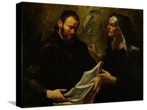 Saint Augustine and Saint Monica-Giovacchino Assereto-Stretched Canvas Print