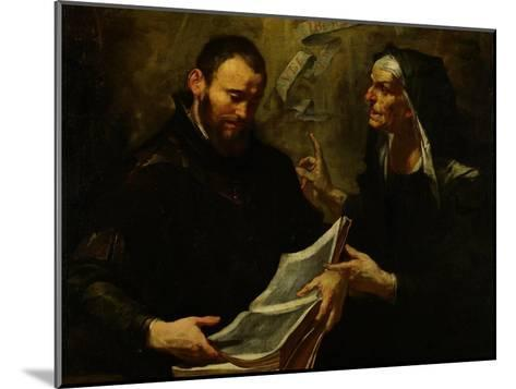 Saint Augustine and Saint Monica-Giovacchino Assereto-Mounted Giclee Print