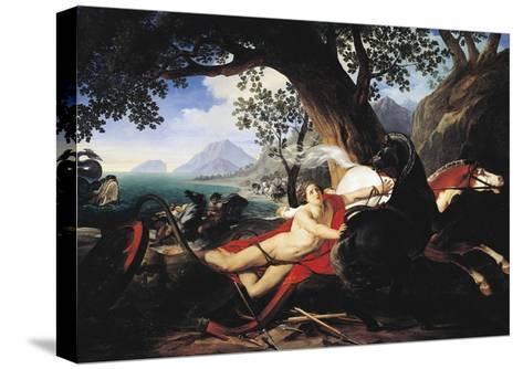 The Death of Hippolytus, 1829-Giovan Battista Airaghi-Stretched Canvas Print