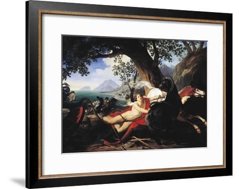 The Death of Hippolytus, 1829-Giovan Battista Airaghi-Framed Art Print