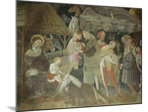 Nativity Scene from the 'Journey of the Magi Cycle', Bolognini Chapel, C.1420-Giovanni Da Modena-Mounted Giclee Print