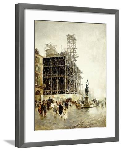 Place De Pyramides-Giuseppe Nittis-Framed Art Print