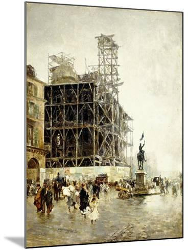 Place De Pyramides-Giuseppe Nittis-Mounted Giclee Print