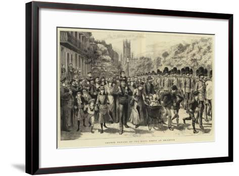 Church Parade of the Scots Greys at Brighton-Godefroy Durand-Framed Art Print