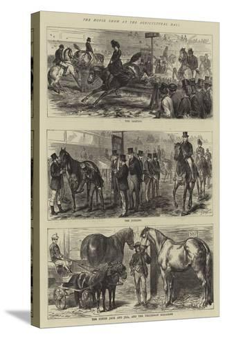 The Horse Show at the Agricultural Hall-Godefroy Durand-Stretched Canvas Print