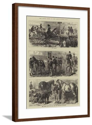 The Horse Show at the Agricultural Hall-Godefroy Durand-Framed Art Print