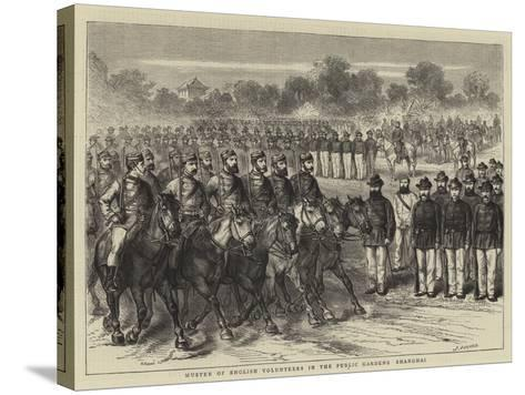 Muster of English Volunteers in the Public Gardens, Shanghai-Godefroy Durand-Stretched Canvas Print