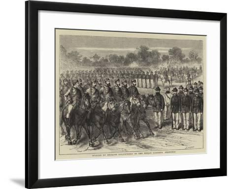 Muster of English Volunteers in the Public Gardens, Shanghai-Godefroy Durand-Framed Art Print