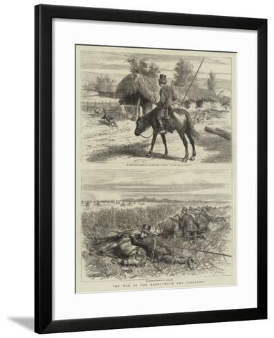 The War in the East, With the Cossacks-Godefroy Durand-Framed Art Print