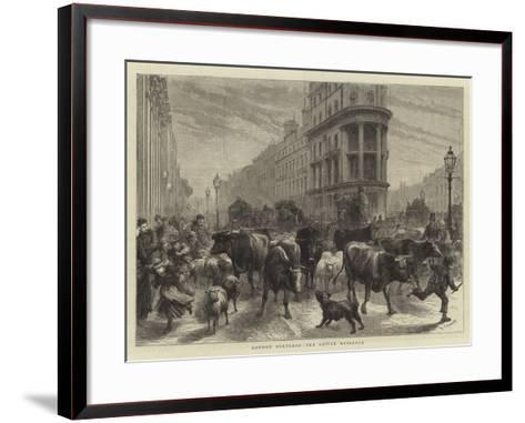 London Sketches, the Cattle Nuisance-Godefroy Durand-Framed Art Print