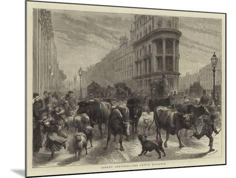London Sketches, the Cattle Nuisance-Godefroy Durand-Mounted Giclee Print