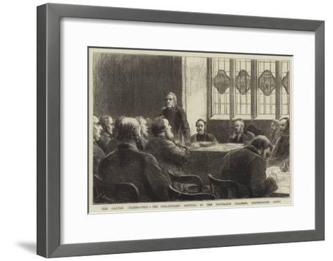 The Caxton Celebration, the Preliminary Meeting in the Jerusalem Chamber, Westminster Abbey-Godefroy Durand-Framed Art Print
